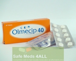 Box pack and strips of generic Benicar 40mg Tablets - Olmesartan Medoxomil