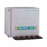 Box and blister strip of generic Losartan Potassium 25mg tablets