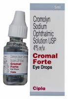 Bottle and box of generic Sodium Cromoglycate(Cromolyn) 4% Ophthalmic Solution
