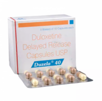 Box and blister strip of generic Duloxetine Hcl 40mg capsule