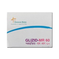 Box of generic Gliclazide MR 60mg Tablets