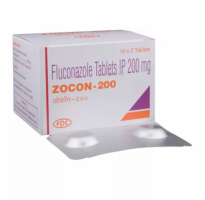 Box and blister strip of generic fluconazole 200mg tablet