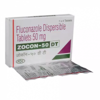 Box and strip of generic fluconazole 50mg tablet