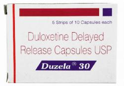 A box of generic Duloxetine Hcl 30mg capsule