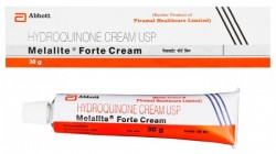 A box and a tube of generic hydroquinone 4% Cream