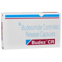A box and a blister of generic Budesonide 3 mg Tablets