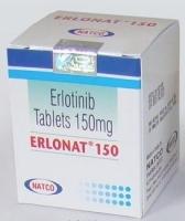 A box pack of generic Erlotinib 150mg tablets