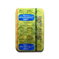 Blister strip of generic metronidazole 200mg tablet