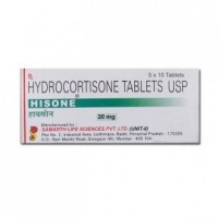 A box of generic hydrocortisone 20mg Tablets