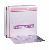 Box and blister strips of generic Sumatriptan Succinate 50mg tablet