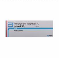 Box of generic propranolol10mg tablets