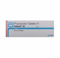 Box of generic propranolol10mg tablets