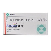 Box of generic Sitagliptin 25 mg Tablets
