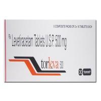 Box of generic Levetiracetam 500mg tablet