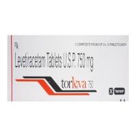 Box of generic Levetiracetam 750mg tablet