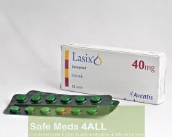 A box and a strip of generic Lasix 40mg tablet - Furosemide
