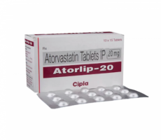 Box and blister strip of generic Atorvastatin Calcium 20mg tablets