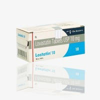 Box of generic Lovastatin 10mg tablets
