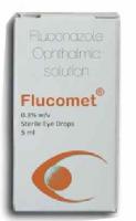 A box of generic Fluconazole 0.3% Eye Drop