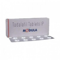 A box and a strip of generic Tadalafil 5mg Tablet