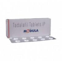 A box and a strip of generic Tadalafil 5mg Tablet