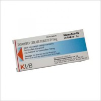 Box of generic Tamoxifen Citrate 10mg tablet