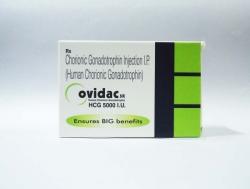 A box of Ovidac 5000 iu/ml - HCG