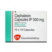 A blister pack and box of generic CEPHALEXIN 500mg Capsules