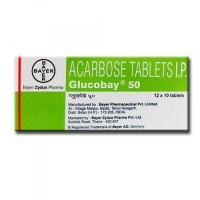 Precose 50mg Tablets (International Branded Version) Marketed Internationally as GLUCOBAY