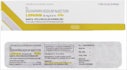 Front and Back side of Enoxaparin 40mg/0.4mL Injection Box