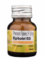 A bottle of generic Phenytoin 50mg Tablet