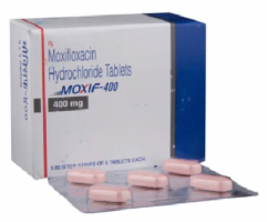 Box and strip pack of generic moxifloxacin 400mg tablets