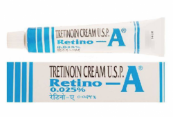A box and a tube of Retin A Cream .025 percent cream of 20gm