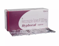 A box and a strip pack of Ketoconazole 200mg Tablet