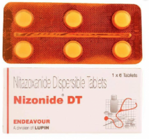 A box and a strip pack of generic Nitazoxanide 200mg Tablet
