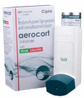A box and a unit of generic Levalbuterol (50mcg) + Beclometasone (50mcg) Inhaler