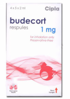 A box unit of generic Budesonide 1mg inhalation