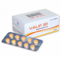 A box pack and a blister of VALIF 20MG Tablets - Vardenafil