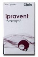 A box of generic Ipratropium 40mcg Rotacaps