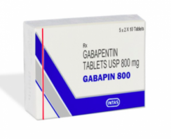 A box of generic gabapentin 800mg Tablet