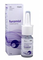 A box of generic Fluticasone Furoate (27.5mcg) Nasal spray