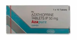 A box of generic Azathioprine 50mg Tablet