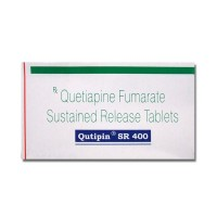 A box of generic Quetiapine Fumarate 400mg SR tablets
