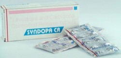 Box and blister strips of generic carbidopa and levodopa 50-200 mg Tablets