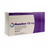 Box of generic Aliskiren 150mg tablets