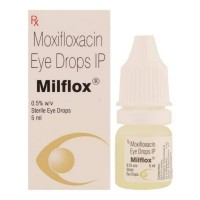 A box and a eye drops bottle of generic Moxifloxacin 0.5%  of 5 ml