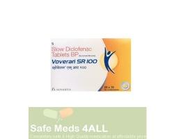 A box of Voltaren sr 100mg tablet - diclofenac sodium