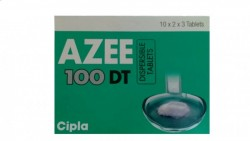 Box of generic azithromycin  100mg tablet
