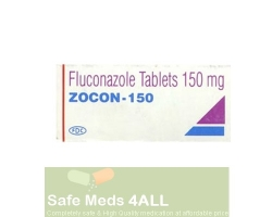 A box of generic fluconazole 150mg tablet