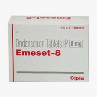 A box of generic ondansetron  8 mg Tablets